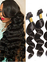 Peruvian Virgin Hair 4pcs Loose Wave Human Hair Weaves Natural Black Hair 8-26 inch Hot Sale.
