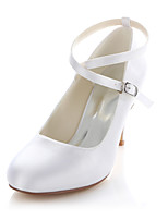 Women's Wedding Shoes Heels / Round Toe Heels Wedding / Party & Evening / Dress White