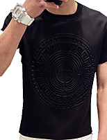 Sets Activewear Uomo Casual Con stampe Manica corta Cotone / Poliestere