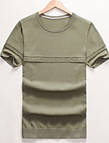 Korean summer 2016 summer summer blue T-shirt slim Mens youth t-shirt teenage boys half sleeve