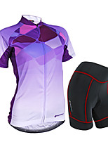 Conjuntos de Roupas/Ternos(Roxo) - deFitness / Corridas / Esportes Relaxantes / Ciclismo / Triathlon-Mulheres-Impermeável / Respirável /
