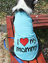 3XL~9XL Dog Shirt / T-Shirt Blue / Pink / Gray / Orange Summer / Spring/Fall Letter & Number Fashion-Lovoyager