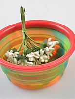 Practical Camouflage Foldable Silica Pet Bowl(Random Color)