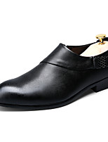 Men's Shoes Wedding / Office & Career / Casual / Party & Evening Leather Oxfords Black / White