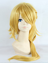 Touken Ranbu The Lior King Long Wavy Golden Color Game Anime Cosplay Full Wig