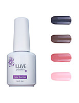 ILuve Gel Nail Polish Set - Pack Of 4 - Long Lasting 3 Weeks Soak Off UV Led Gel Varnish – For Nail Art #4013