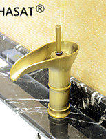 PHASAT® Antique Brass Waterfall Bathroom Sink Faucet