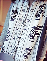 Spring Fashion Simple Elephant Double-sided Printed Scarves Cotton Oversized Shawl