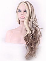 Golden Mix Long Curly Blonde Hair Cosplay Wig