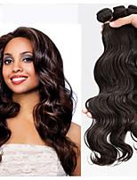 3pcs gran cantidad de extensión de cabello 100% peruana paquetes de trama onda virginal del cuerpo del pelo humano