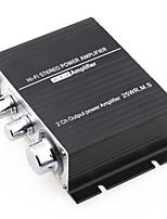 mini amplificatore hi-fi per iPod stereo mp3 per auto moto casa 12v / 2a nero
