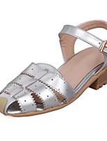 Calçados Femininos-Sandálias-Chanel-Salto Baixo-Rosa / Vermelho / Branco / Prateado-Courino-Social / Casual
