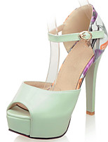 Women's Shoes Stiletto Heel/Platform/Sling back/Open Toe Sandals Party & Evening/Dress Green/Pink/White