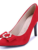 Women's Shoes Stiletto Heel/Pointed Toe Heels Party & Evening/Dress Black/Red
