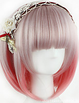 New Style European Cosplay Ombre Color BOBO Short Synthetic Hair