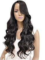 Hot Selling High Side Loose Wavy Human hair Full/ Lace Front Wig for Women