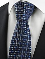 Navy Blue Polka Dot Circle Pattern Men's Tie Necktie Formal Business Gift KT0032