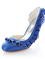 Women's Wedding Shoes Heels / Round Toe Heels Wedding / Party & Evening / Dress Royal Blue