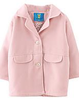 Girl's Blue / Pink Jacket & Coat,Dresswear Polyester Winter / Spring / Fall