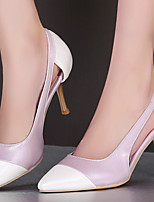 Calçados Femininos-Saltos-Saltos / Bico Fino / Com Ponteira-Salto Agulha-Rosa / Roxo / Bege / Verde Claro-Courino-Escritório & Trabalho /