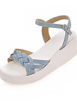 Women's Shoes Customized Materials Flat Heel Comfort Sandals Outdoor / Office & Career / Dress / Casual Black
