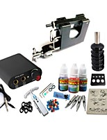 basekey tattoo kit jh559 1 3in1 handgemaakte machine met stroomaansluiting grips 3x10 ml inkt