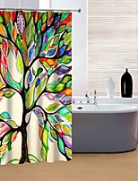 Modern Colourful Tree Shower Curtains W71