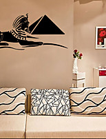 4082 Egyptian Sphinx and Pyramid Silhouette Wall Stickers Living Room Home Decorations PVC Decal Mural
