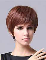 Short Style Straight Hair European Weave Brown Color Hair Synthetic Wig