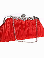 Women Acrylic Baguette Clutch / Evening Bag / Wallet / Key Holder / Coin Purse-Red / Champagne