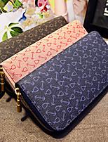 Bi-fold (due scomparti)-Pochette / Portafoglio / Porta carte di credito-Donna-PU-Rosa / Blu / Marrone