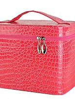 Women PU / Satin Professioanl Use Cosmetic Bag-Pink / Red / Black