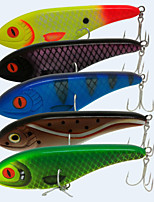 5pcs/lot High Quality 6Inch 76G Hard Plastic Slow Sinking Jerkbait Fishing Lure Wovbble Pike Muskie Swimbait