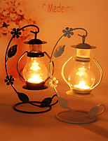 Couples Birthday Gift Classic Originality European Condole Lantern Hollow-Out Pavilion, Wrought Iron Candlestick