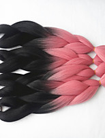 1-12packs / pcs extensões de cabelo trança sintética cor de cabelo bonito da trança alta temperatura tranças 100g