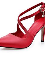 Women's Shoes Leatherette Stiletto Heel Heels Heels Wedding / Office & Career / Party & Evening / Dress Red / Beige