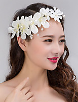 Women's / Flower Girl's Lace / Pearl Headpiece-Wedding / Special Occasion Wreaths 1 Piece