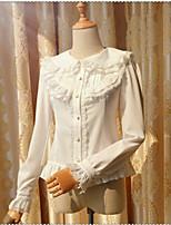 Sweet Lolita Long Sleeve Medium Length White / Black FRP Lolita Dress