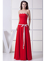 Formal Evening Dress-Ruby A-line Strapless Floor-length Chiffon