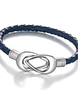 2016 Genuine Leather Stainless Steel Bracelets & Bangles Casual & Sporty  Mens Bracelet