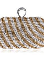 Women Metal Minaudiere Evening Bag-Gold / Black / Multi-color