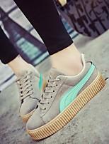 Scarpe Donna-Sneakers alla moda-Tempo libero / Casual-Comoda / Punta arrotondata-Plateau-Finto camoscio-Nero / Verde / Bianco / Nero e