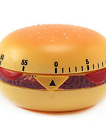 60mins Hamburger Shaped Mechanical Kitchen Timer Cooking Count Down