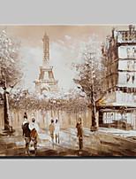 pintura a óleo moderna tamanho mini pintados à mão paris paisagem da cidade na lona um painel pronto para pendurar 20x25cm