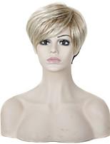 armadura europeo peluca sintética longitud media cabello lacio cabello color mezclado