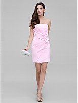 TS Couture Cocktail Party Dress - Blushing Pink Sheath/Column Sweetheart Short/Mini Satin