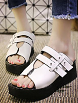 Women's Shoes  Platform Peep Toe / Creepers Sandals Outdoor / Casual Black / White