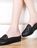 Women's Shoes Synthetic Flat Heel Comfort Loafers Office & Career / Dress / Casual Black / White
