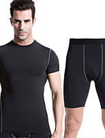 High Stretch Tight Pants PRO Sports Compression Tights Sport Suits Quick-drying Clothes (Short sleeve+Short pants)