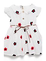 Mädchen Kleid-Baumwolle Sommer Weiß